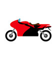 side view of a racing motorcycle vector image