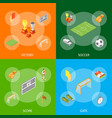 soccer sport game signs 3d banner set isometric vector image vector image