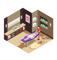 spa beauty salon isometric composition vector image vector image