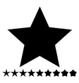 star shape with thin and thick versions - star vector image