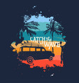 surfer beach vacation vintage design with quote vector image