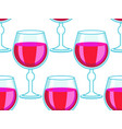 tall wineglass pattern vector image vector image
