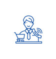 telemarketing line icon concept telemarketing vector image vector image