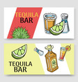 tequila bar set banners vector image vector image
