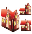 Three Houses Set vector image vector image