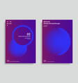 trendy abstract design templates vector image vector image