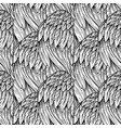 vintage seamless pattern with hand-drawn feathers vector image