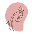 woman face portrait lady with long hair vector image