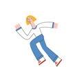 woman in sportswear running in trendy flat style vector image vector image