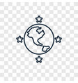 world concept linear icon isolated on transparent vector image