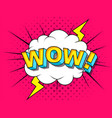 wow comic cartoon explosions vector image vector image
