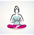 yoga lotus pose women wellness concept vector image vector image