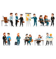 business people icon set vector image