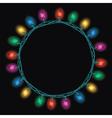 christmas light lamps vector image