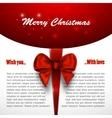 Merry christmas background invitation xmas card vector image