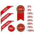 Red sale tags with discount vector | Price: 1 Credit (USD $1)