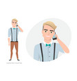 a man is talking on the phone vector image vector image