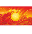 abstract red yellow wave background vector image