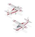 Airplane Mini Isometric View vector image vector image