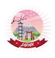 arch japan culture design vector image