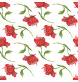 artistic pattern with embroidery poppies vector image