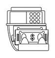 atm money machine vector image