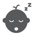 baby boy sleep glyph icon child and sleep vector image vector image