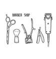 barber shop set vector image vector image