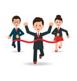 business people running race competition vector image vector image