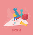 businesswoman character playing dice business vector image vector image