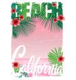 california beach t-shirt graphics vector image