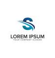 cative modern letter s logo design concept vector image