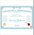 certificate or diploma retro vintage template 03 vector image
