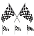 Checkered Flags racing vector image