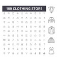 clothing store line icons signs set vector image vector image