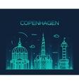Copenhagen skyline trendy linear style vector image vector image
