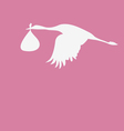 crane with a bag with baby vector image vector image