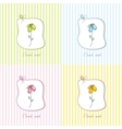 cute floral gift card vector image vector image