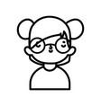 cute little girl happy cartoon character portrait vector image vector image