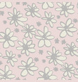 daisy flowers sketch seamless pattern vector image vector image