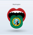 electoral vote of washington abstract mouth vector image