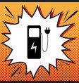 electric car charging station sign comics vector image vector image