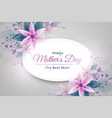elegant mothers day flower greeting vector image