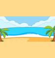 empty beach landscape scene with blank sky vector image