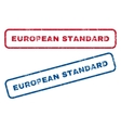 European Standard Rubber Stamps vector image vector image