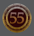 fifty fifth anniversary celebration logo symbol vector image