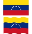 Flat and waving Venezuelan Flag vector image vector image