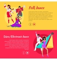 Folk and Disco or Electronic Dance Web Banner vector image vector image
