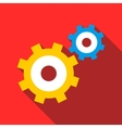 Gear mechanism icon flat style vector image vector image