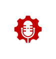 gear podcast logo icon design vector image